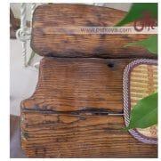столешница кованого стола бамбук фрагмент